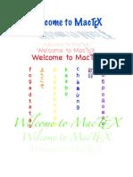Welcome to MacTeX
