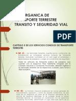 LEY ORGANICA DE TRANSPORTE TERRESTRE TRANSITO Y SEGURIDAD.pptx