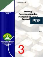 Pert 14. Strategi & Tax Plan @2016