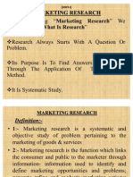 (Unit-i) Marketing Research