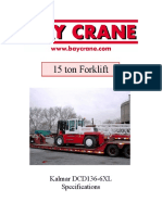 15 Ton Forklift Specification