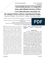 Optimization of insecticidal potency of composites of aqueous, acetone, and ethanol extracts of Piper guineense seed on Callosobruchus maculatus by the simplex-lattice mixture experimental design