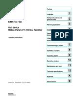 Hmi Mobile Panel 277 Operating Instructions en-US en-US