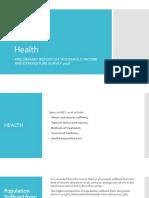 Presentation on Health on HIES Bangladesh 2016