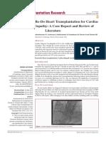 India's 1 st  Case of Re-Do Heart Transplantation for Cardiac  Allograft Vasculopathy