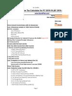 Income Tax Calculator Fy 2018 19 v4