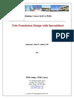 Pole Foundation Design