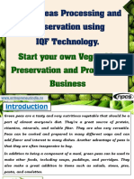 Green Peas Processing and Preservation using IQF Technology