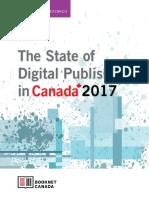 Le livre numérique et le livre audio au Canada en 2017