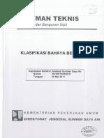 25) PEDOMAN TEKNIS. KLASIFIKASI BAHAYA BENDUNGAN.pdf