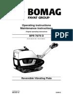 BOMAG BPR 70/70D Operators Manual