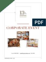Corporate Events 13% Gastro Wine