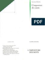 Yasmina Khadra-L'imposture des mots (2002).pdf