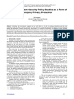 Information System Security Policy Studies as a Form of Company Privacy Protection