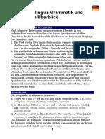 Kleine Interlingua-Grammatik Und Wortliste Im Ueberblick
