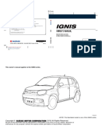 Ignis Owners Manual