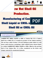Cashew Nut Shell Oil Production