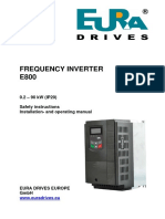 Eura Drives e800_en Frequency inverter