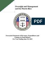 Puerto Rico Fiscal Control Board 2019 Budget