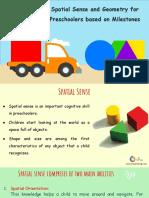 Spatial Sense and Geometry for Preschoolers Based on Milestones