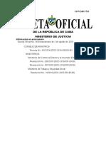 Gaceta Oficial - Cuba