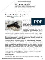 A Nova Lei Do Crime Organizado – BLOG DO VLAD