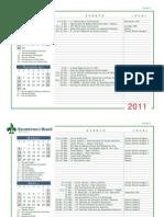 Calendário Regional 2011