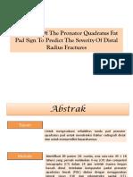 Reliability of the Pronator Quadratus Fat Pad Sign Ppt