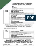 Aturcara Temasya Sukan Padang Dan Belapan Smk Sibu Jaya Kali Ke15 Tahun 2018
