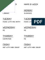 maps a weekmaps b week