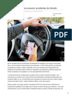 Una aplicación para prevenir accidentes de tránsito.
