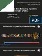 06 Luebke Survey Rendering Algorithms BPS SIGGRAPH2010