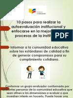 10 Pasos Para Realizar La Autoevaluación Institucional y