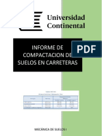 Informe Clasificación de suelo método Sucs