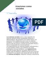 Informacion Sobre Organizaciones Sociales
