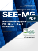 Professor de Educação Básica - PEB - Nível I - Grau a Matemática