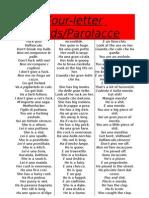 (Parolacce) Four-letter Words in Italian & English