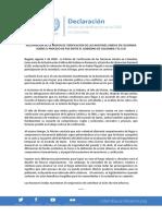 Declaración Misión Verificación ONU Colombia Agosto 1 de 2018