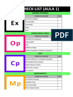 Checklist Em Excel