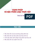 Chuong 9 - Bac Phan Loai - Danh Phap Phan Loai