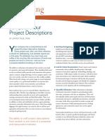 Jumpstart Your Project Descriptions