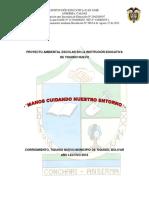 Proyecto Ambiental Escolar en La Institución Educativa