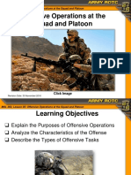 Offensive Operations at the Squad and Platoon