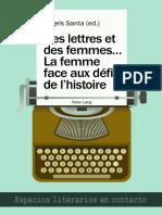 Àngels Santa (Ed.)-Des Lettres Et Des Femmes .... La Femme Face Aux Défis de l'Histoire