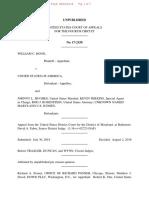 Unpublished Per Curiam Decision in Bond v. USA, U.S. Fourth Circuit no. 17-2150
