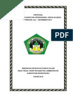 Proposal Pengajuan Bos Madrasah 2018