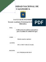 Calibración Del Modelo Matemático QUAL2K Para El Análisis de Calidad Del Agua