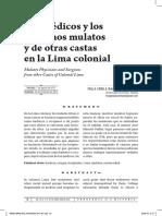 Cirujanos Mulatos en Lima Colonial