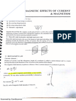 Magnetic Effect of Current & Magnetism