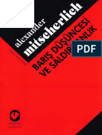 Alexander Mitseherlich Barış Düşüncesi Ve Saldırganlık